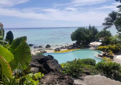 Beach Resort With A Pool At Cook Islands