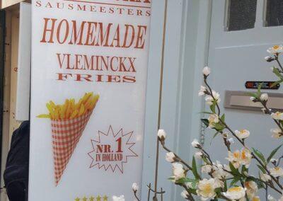 Homemade Vleminckx Fries In Amsterdam, Netherlands