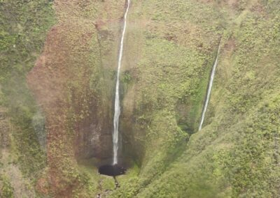 Majestic Waterfalls In Hawaii,United States