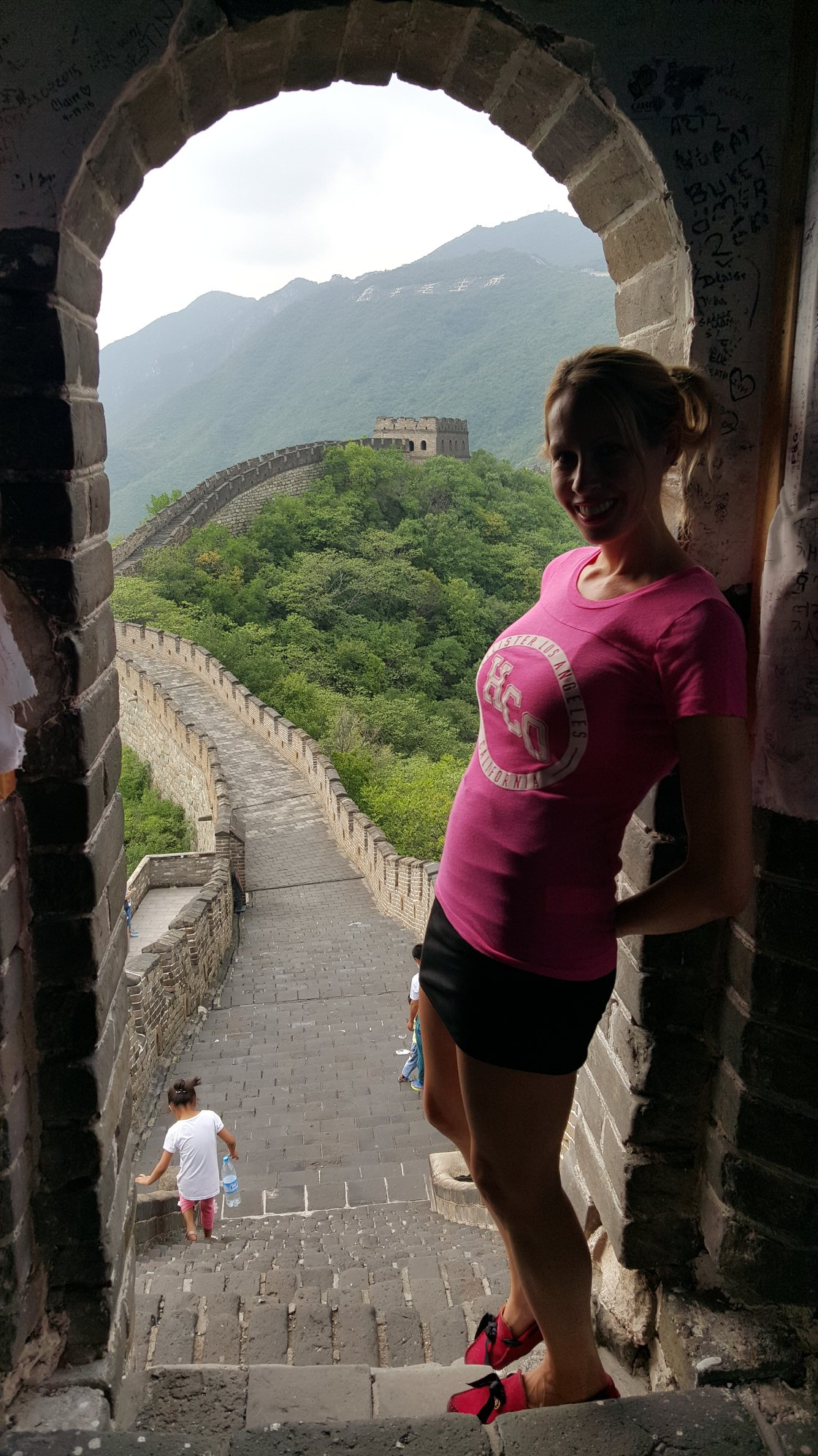 Rachelle Ginsberg at Great wall of China
