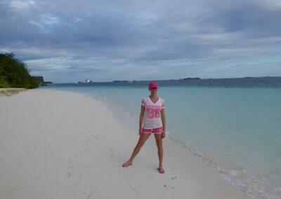 Rachelle Ginsberg At The Seashore Of Maldives