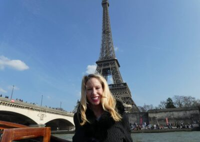 Rachelle Ginsberg In Front Of The Eiffel Tower