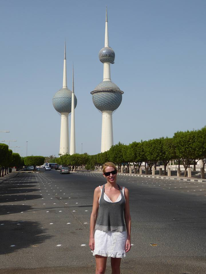 Rachelle Ginsberg is at Kuwait Towers