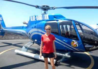 Rachelle Ginsberg Is Going For A Ride In Helicopter To Hawaii Volcanoes National Park, Hi, United States