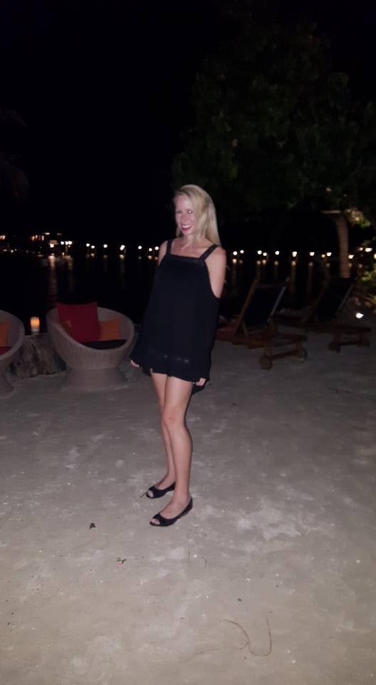 Rachelle Ginsberg night out beach at Fiji