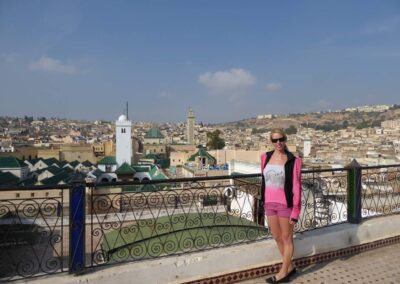 Rachelle Ginsberg With A Great City Background Of Morocco