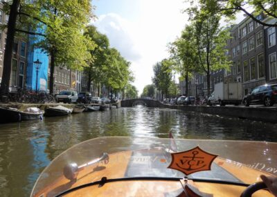 Riding In A Boat At Amsterdam, Netherlands