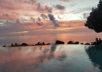 Stunning View At The Infinity Pool In Cook Islands