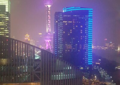 View From The Room At Mandarin Oriental Tv Tower In China