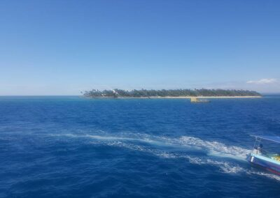 View Of The Island In Fiji